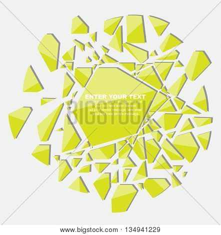 CRUSHED ELEMENTE TEMPLATE MESSAGE STICKER SECOND EDITION YELLOW