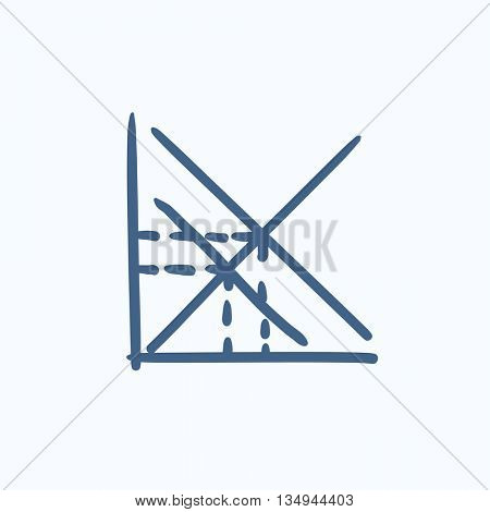 Mathematical graph vector sketch icon isolated on background. Hand drawn Mathematical graph icon. Mathematical graph sketch icon for infographic, website or app.