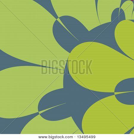 Green and Blue Petals