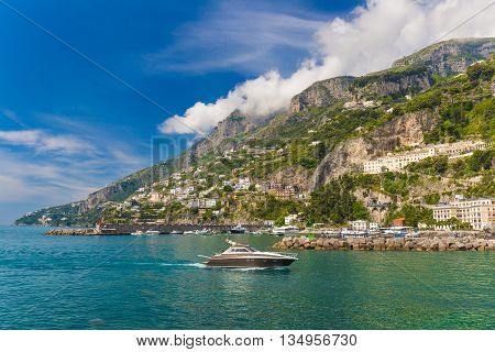 Amazing Generic View On Amalfi Coast From Town Of Amalfi, Campania Region, Italy