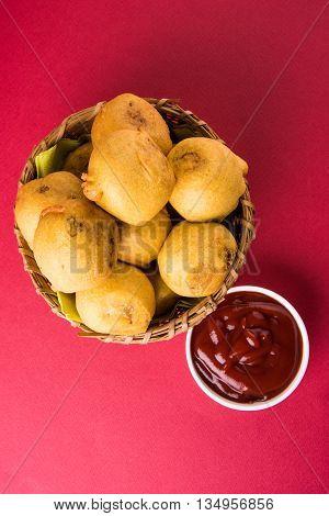 indian snacks also known as urad daal vada or indian pakoda or couth indian pakora or batata vada or aalu bonda or aalu bonde poster