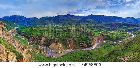 View of Canyon Colca Peru, South America