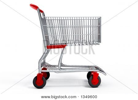 Shopping Cart 3D With Vector Clipping Path