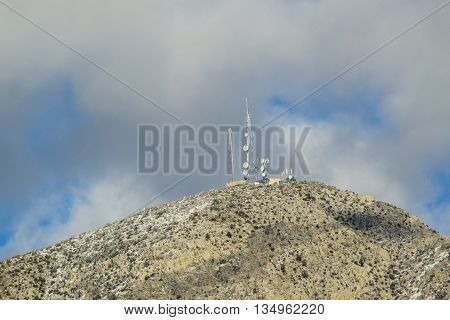 Viewing the Desert Landscape, Nevada snowy sierra  mountains