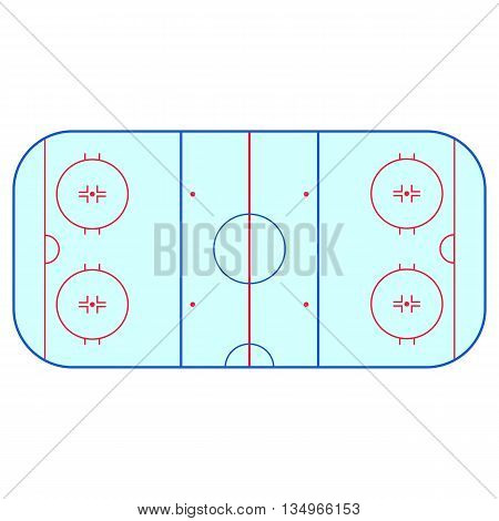 Ice hockey rink field playing infographics, flat, app, nhl