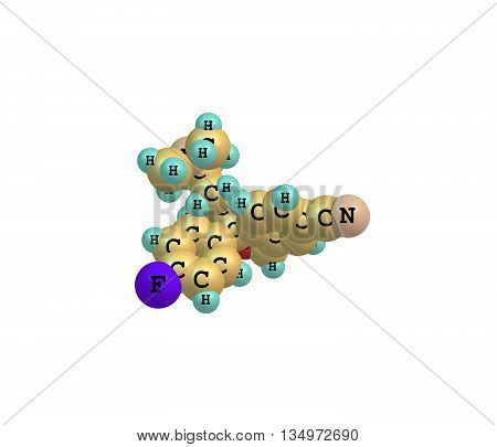 Escitalopram is an antidepressant of the selective serotonin reuptake inhibitor - SSRI - class. 3d illustration