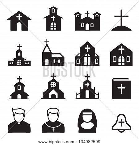 church icon silhouette Vector illustration Graphic design