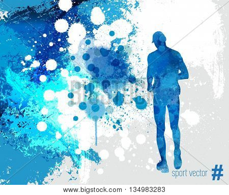 illustration of splashy runner silhouette