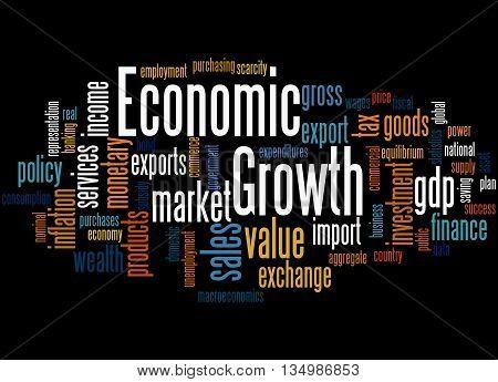 Economic Growth, Word Cloud Concept 4