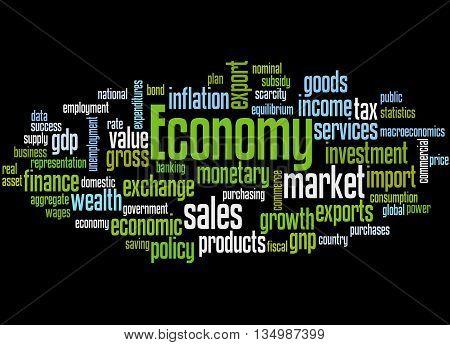 Economy, Word Cloud Concept 5