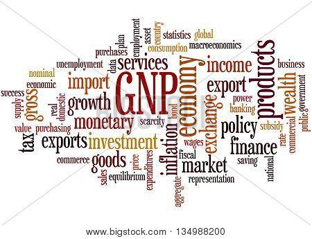 Gnp - Gross National Product, Word Cloud Concept 2