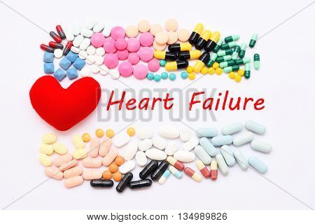 Drugs for heart failure treatment, medical concept