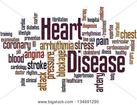 Heart Disease, Word Cloud Concept 6