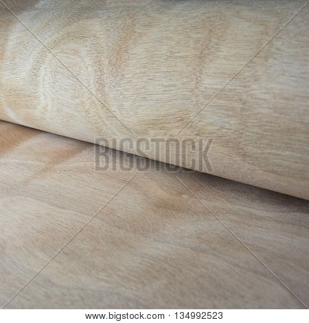 Wood ply thin pattern view closeup background