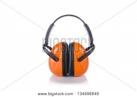Noice cancelling earphones isolated on the white background