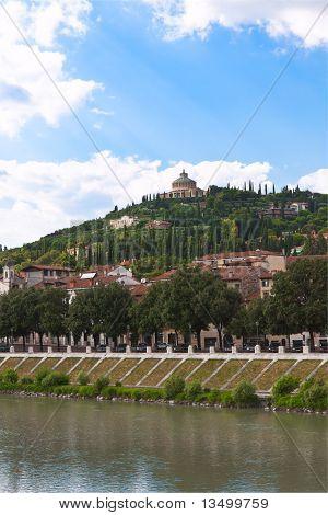 Verona Historic Center Cityscape