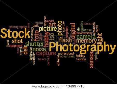 Stock Photography, Word Cloud Concept