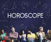 Horoscope Astral Calendar Future Prediction Signs Concept poster