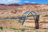 Hite Crossing Bridge across Colorado River in Glen Canyon National Recreation Area poster