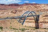 Hite Crossing Bridge across Colorado River in Glen Canyon National Recreation Area poster
