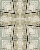 kaleidoscope cross from photo of windows on one wachovia center charlotte north carolina poster