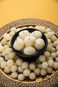 Rosogolla or Roshogolla or Rasagola or Ras Gulla or anguri rasgulla or angoori rasgulla, famous Bengali sweet poster