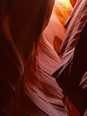 the upper antelope slot canyon near page in arizona usa poster