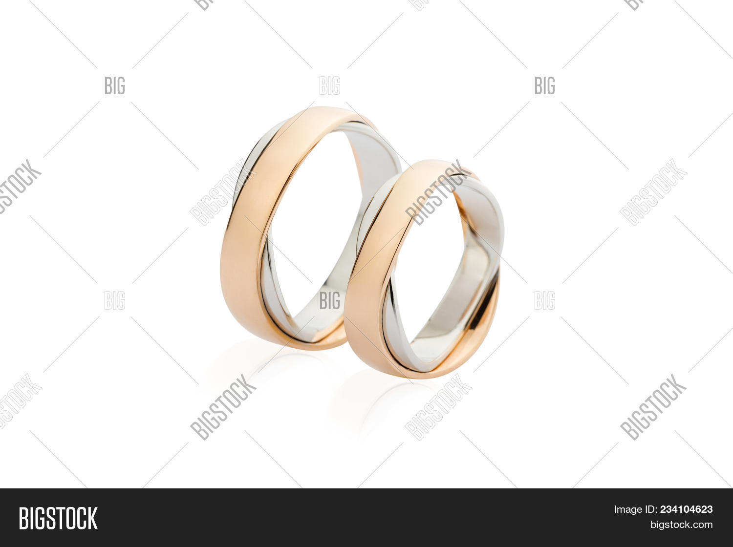 Two White Rose Gold Image Photo Free Trial Bigstock