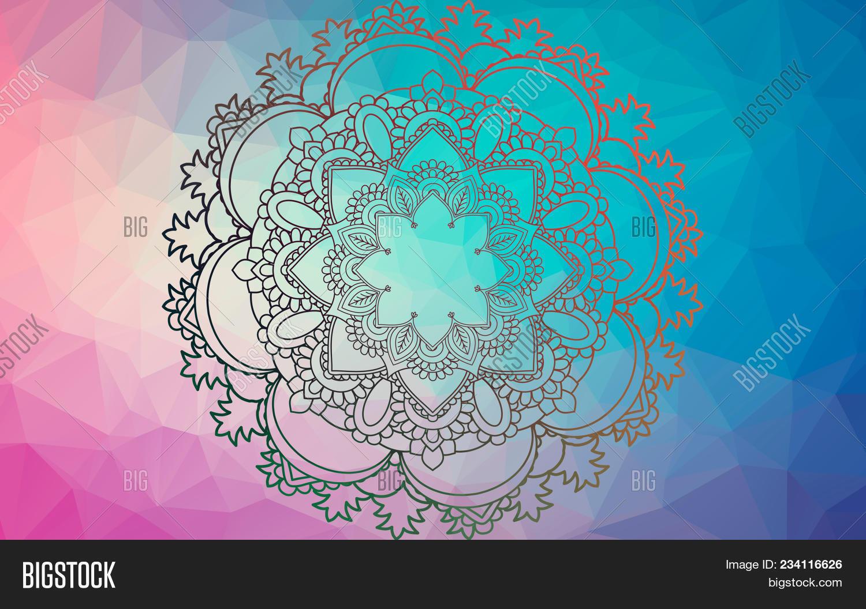Yoga Mandala. Vintage Image & Photo (Free Trial) | Bigstock