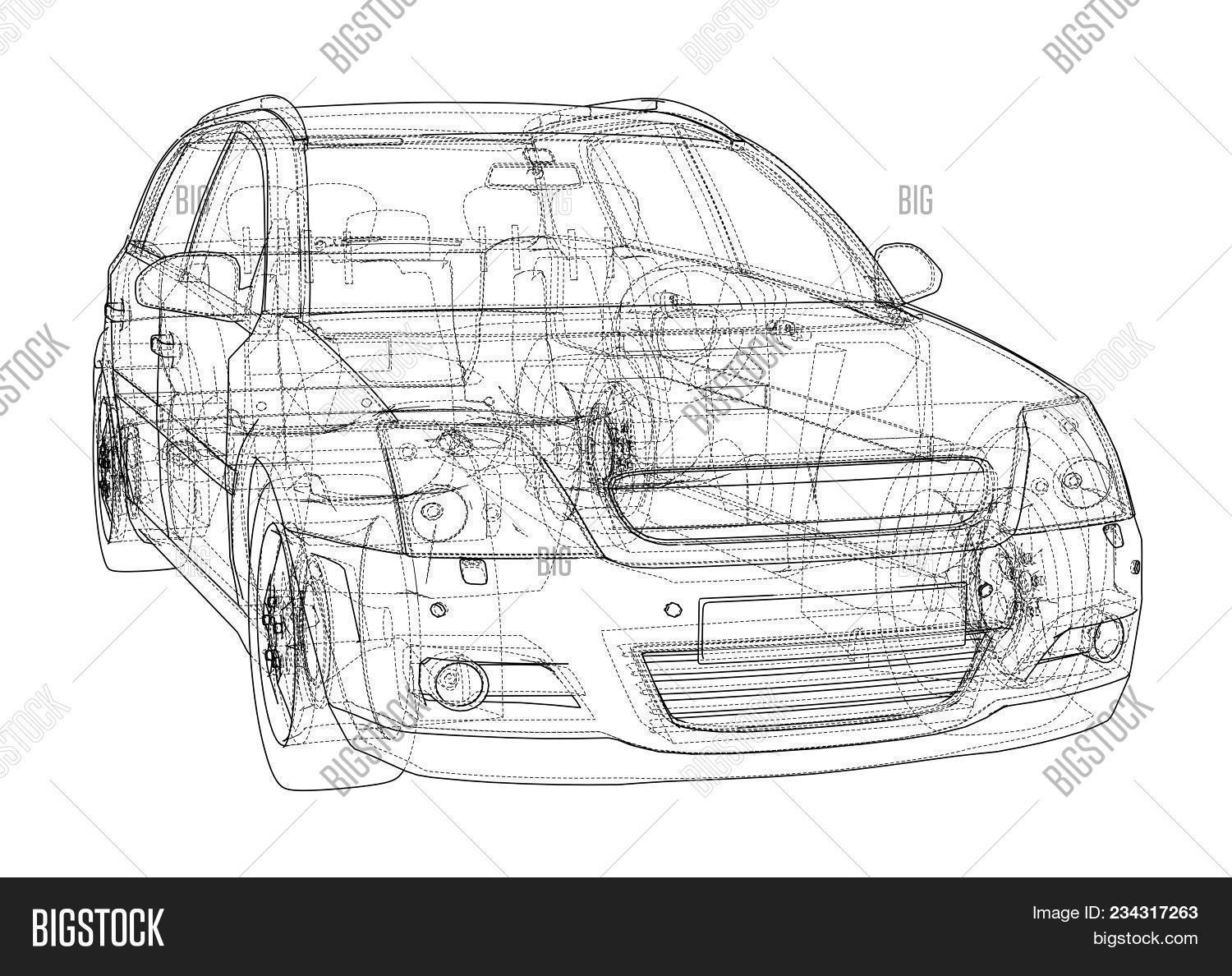 Nice Muscle Car Blueprints Illustration   Simple Wiring Diagram .