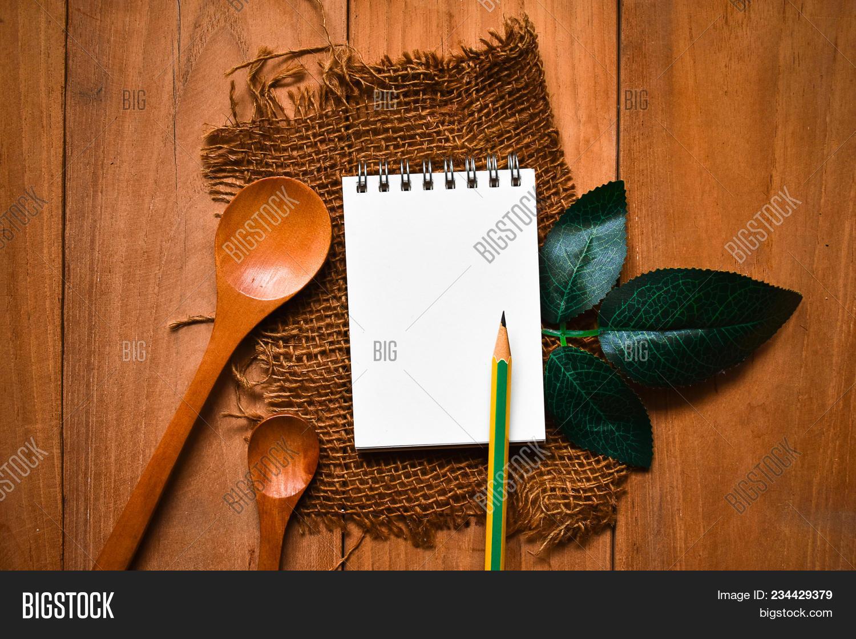 Notepad Spoon Pencil Image & Photo (Free Trial) | Bigstock