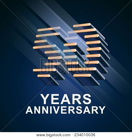 50 Years Anniversary Vector Icon, Logo. Graphic Design Element With Nonstandard Elegant Font For 50t