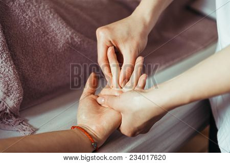 Physical Therapist Massage Hands. Hand Massage Su Jok