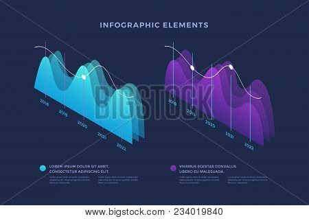 Infographic Vector Elements. Illustration Of Data Financial Graphs Or Diagrams, Information Data Sta
