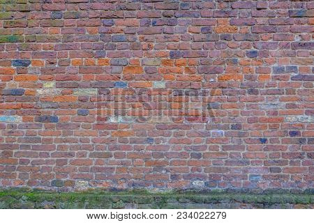 Large Expanse Of Red Brick Wall.  Great Background Shot.