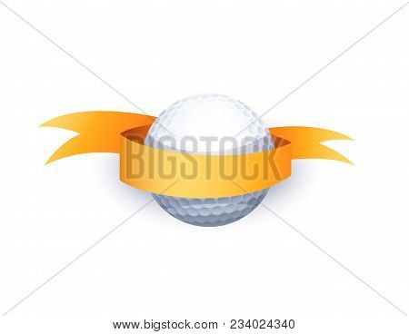 Golf Ball With Ribbon