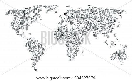 Geographic Mosaic Map Done Of Diploma Icons. Vector Diploma Scatter Flat Elements Are Combined Into