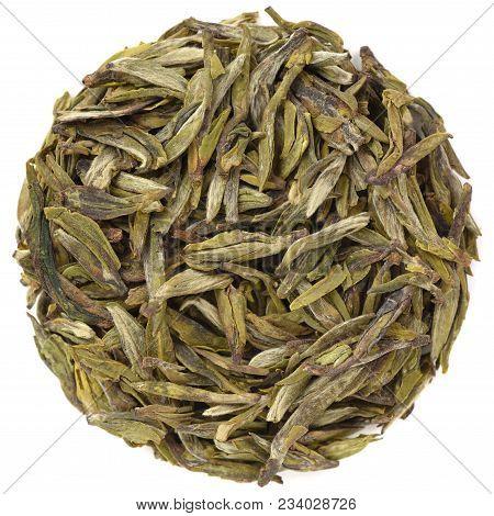 Yunnan Long Jin Bao Hong Dragon Well Tea Isolated