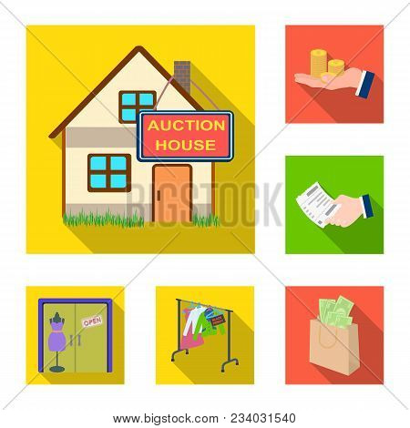 E-commerce And Business Flat Icons In Set Collection For Design. Buying And Selling Vector Symbol St