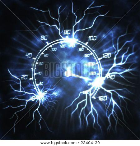 Speedometer And Lightning
