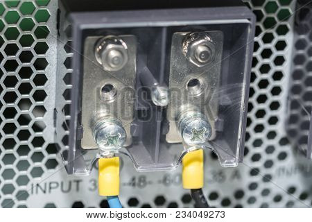 Electric Panel With Cables Electrical Terminal In Junction Box Control Panel With Static Energy