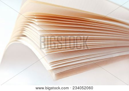 The Leaves Are Thick Notebook, The Leaves Of A Notebook, Half-open Shared Notebook