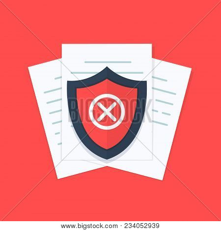 Document Not Protected Concept, Confidential Information And Privacy Idea, Security Documentation Ac