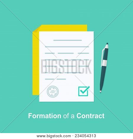 Contract Creation, Document Formation, Obligation Concept, Last Will Paper, Prenup Terms Conditions,