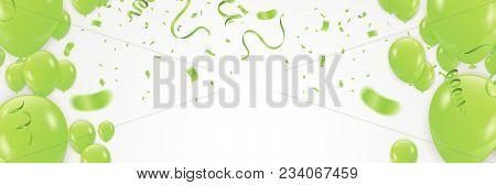 Vector Stock Elegant  Balloon Party Celebration Festival Background. Confetti Greeting Background Wi