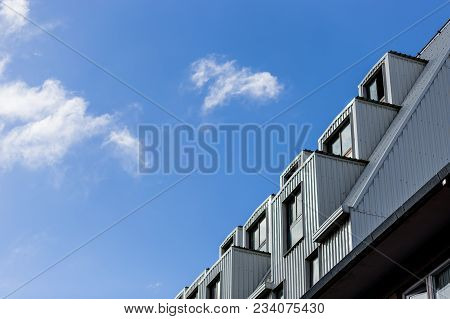 Modern Interesting Architecture Against Blue Sky. Patagonia, Argentina