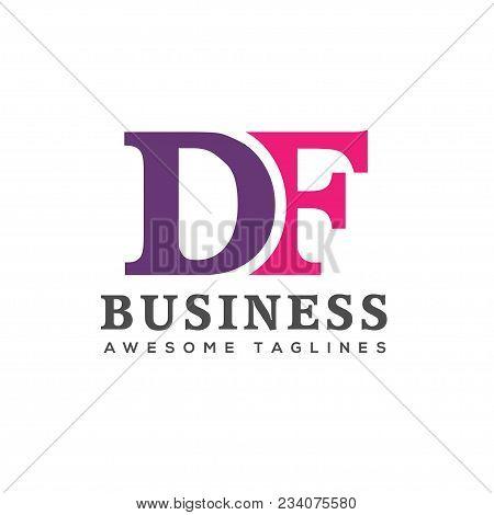 Creative Letter Df Logo Design Elements. Simple Letter Df Letter Logo,business Corporate Letter Df L