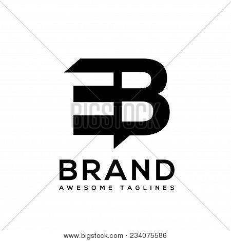 Creative Letter Eb Logo Design Black And White Logo Elements. Simple Letter Eb Letter Logo,business