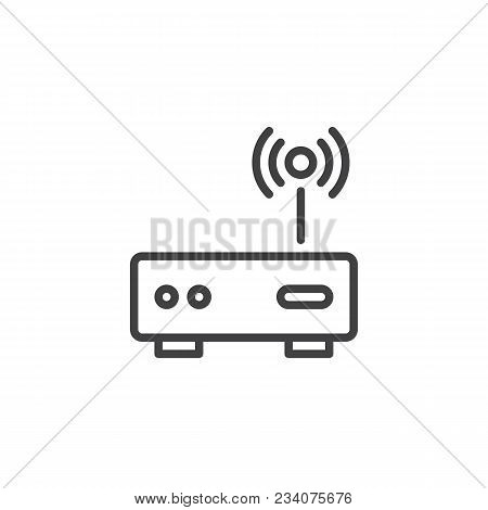 Wi-fi Modem Outline Icon. Linear Style Sign For Mobile Concept And Web Design. Wireless Router Simpl