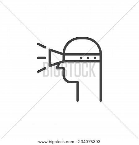 User Vr Glasses Smart Technology Outline Icon. Linear Style Sign For Mobile Concept And Web Design.